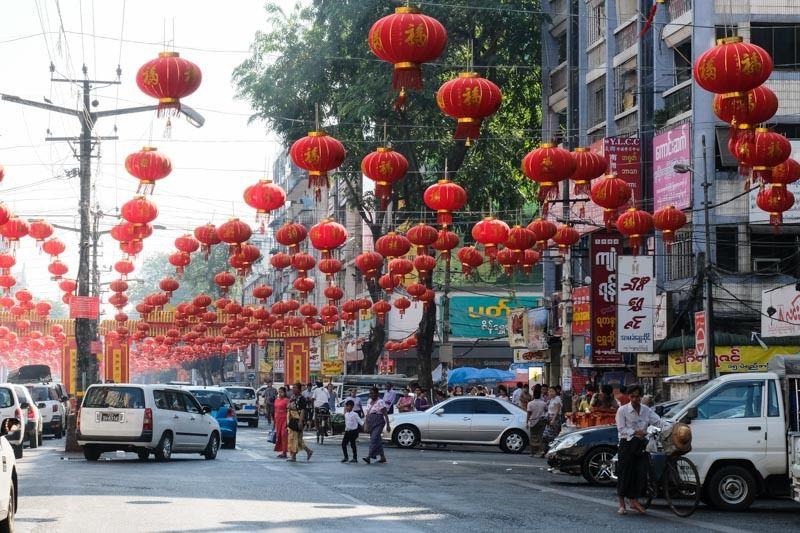 dans le quartier chinois de Yangon