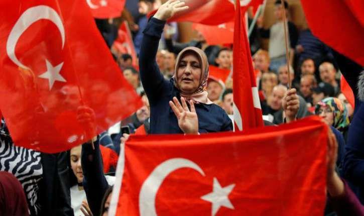 Pour une Dictature islamique voulue par Erdogan : 65% des Turcs de France et 77% de ceux de Belgique ont voté le  Oui