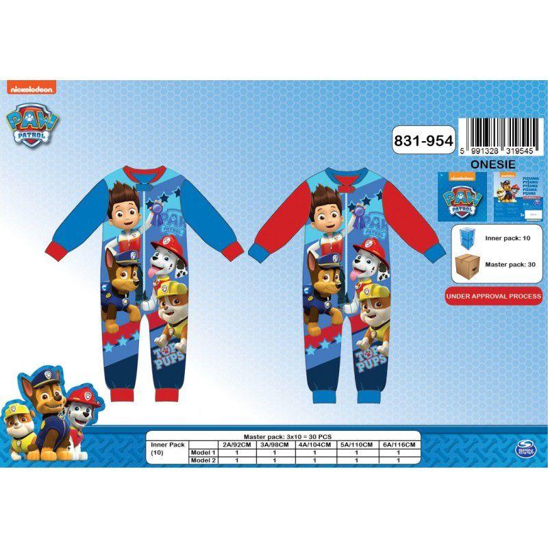 1 Pyjama Polaire Combinaison Pat Patrouille rouge / 3 ans / 10€