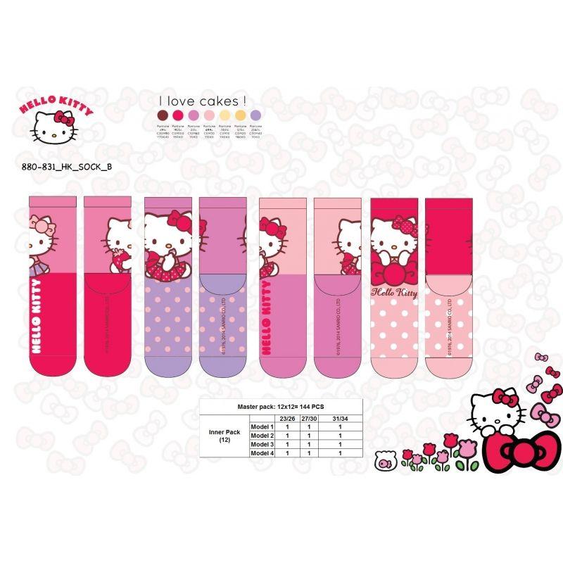 4 Paires de chaussettes Hello Kitty 23/261 de chaque 4x1.50€=6€