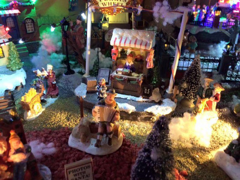 Réalisation du village de Noël 2015
