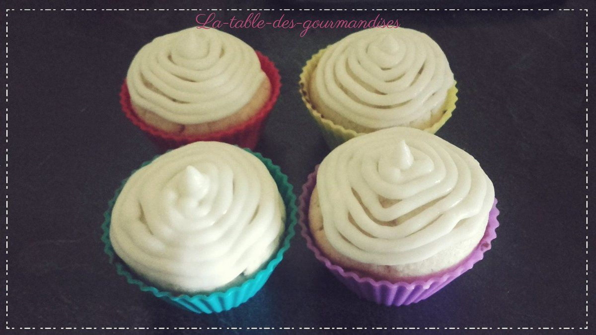 cupcake glaçage mascarpone