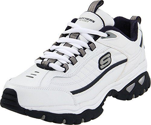 Feel the burn when you get active in this sporty athletic sneaker from Sketchers. The super-comfortable Energy Afterburn Sneaker features cool, leather uppers and a padded heel for extra shock absorption. A non-slip rubber outsole delivers superb traction and a cushioned midsole provides comfort all day long. Pair this casual sneaker with warm-up attire or jeans.  Feel the burn when you get active in this sporty athletic sneaker from Sketchers. The super-comfortable Energy Afterburn Sneaker features a cool leather upper and a padded heel for extra shock absorption. A non-slip rubber outsole delivers superb traction, and a cushioned midsole provides comfort all day long.