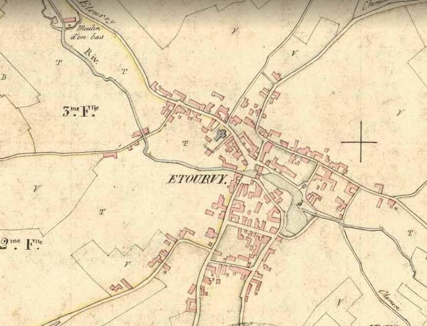 Carte napoléon 1830: l'étang est encore plus imposant qu'à l'heure actuelle.