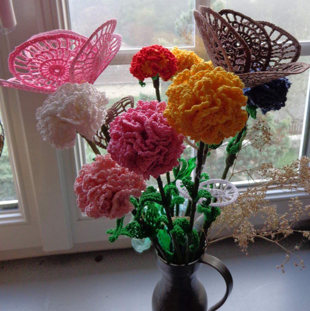 gros bouquet de fleurs en coton