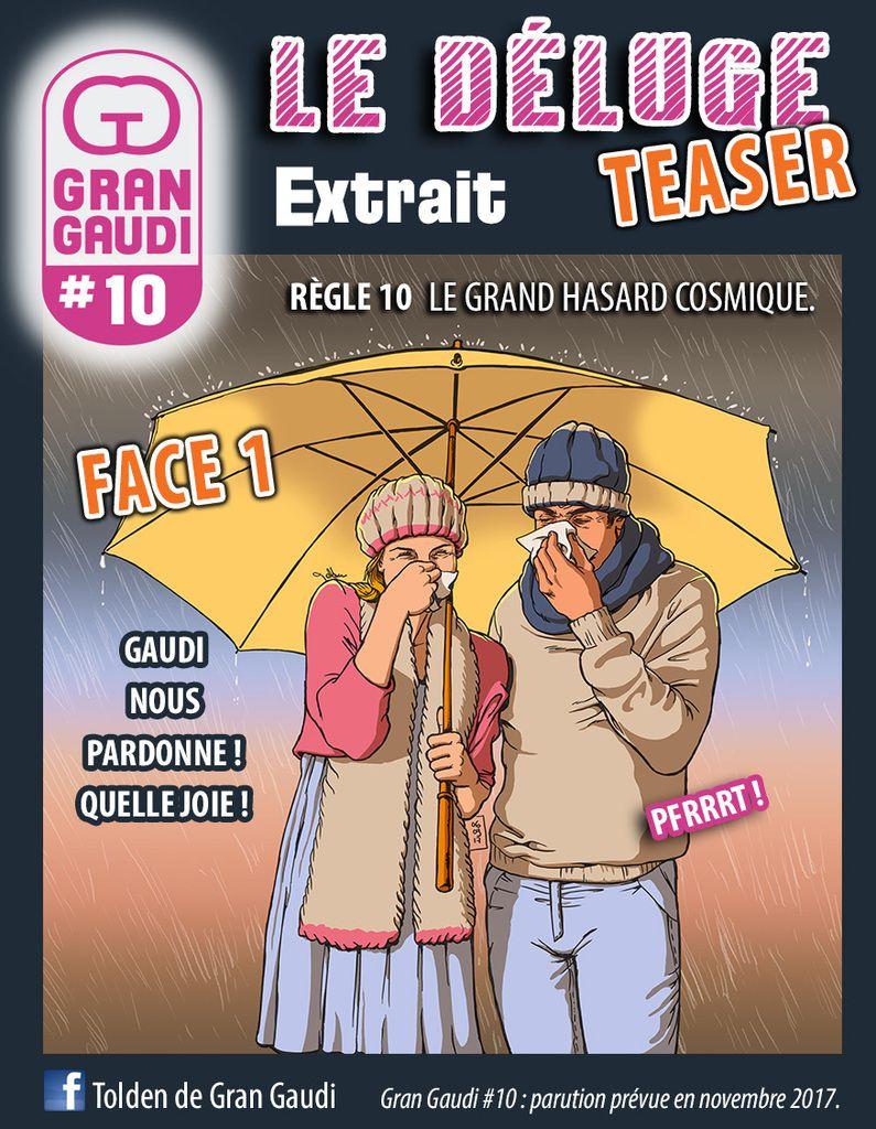 Fanzine Gran Gaudi, règle 10, b.d., secte et humour par Tolden.