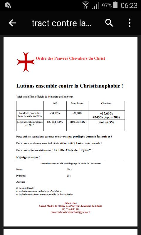 Christianophobie en hausse en France !