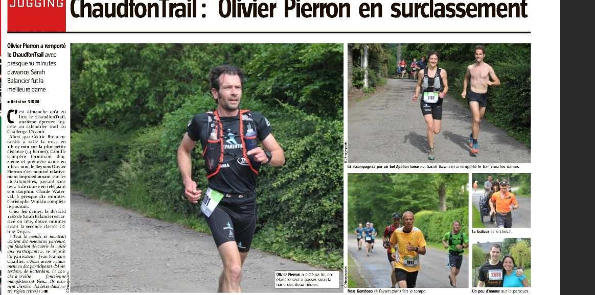 Jogging: revue de presse depuis lundi