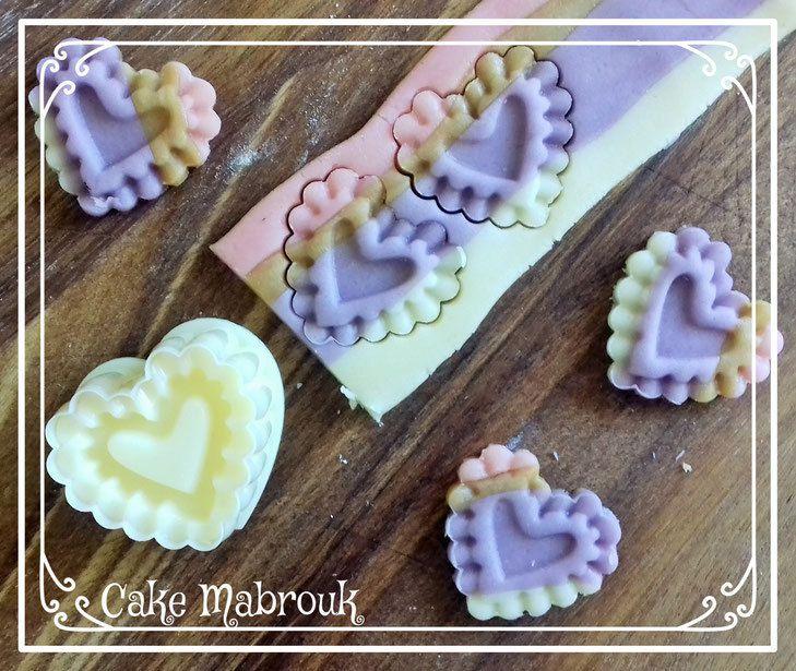 Kit à tartelettes petits coeurs Référence: 117 de la boutique cakemabrouk.fr