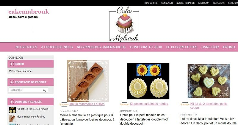 Boutique www.cakemabrouk.fr
