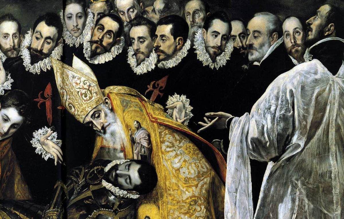 Enterrement du comte d'Orgaz - El Greco vers 1586–1588 - Eglise San Tomé de Tolède