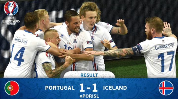 PORTUGAL - ISLANDE : 1 - 1  (1er tour - Groupe F) J_01 - EURO 2016