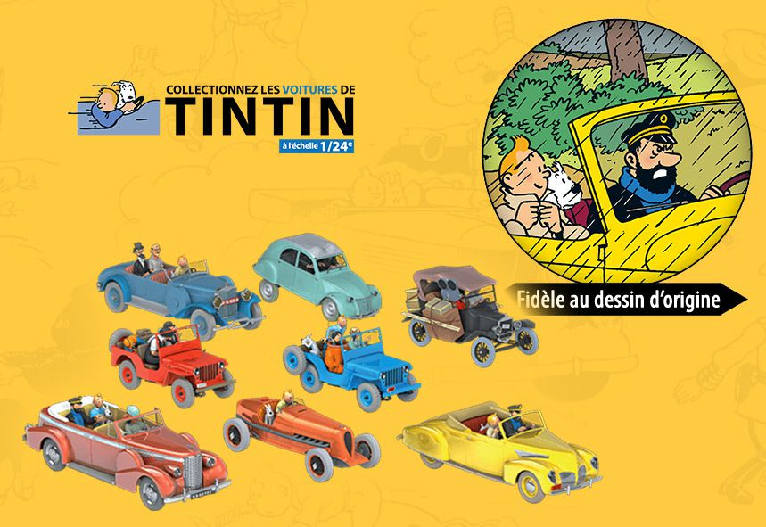 hachette collectionnez les voitures de tintin l 39 chelle 1 24 mini pdlv. Black Bedroom Furniture Sets. Home Design Ideas