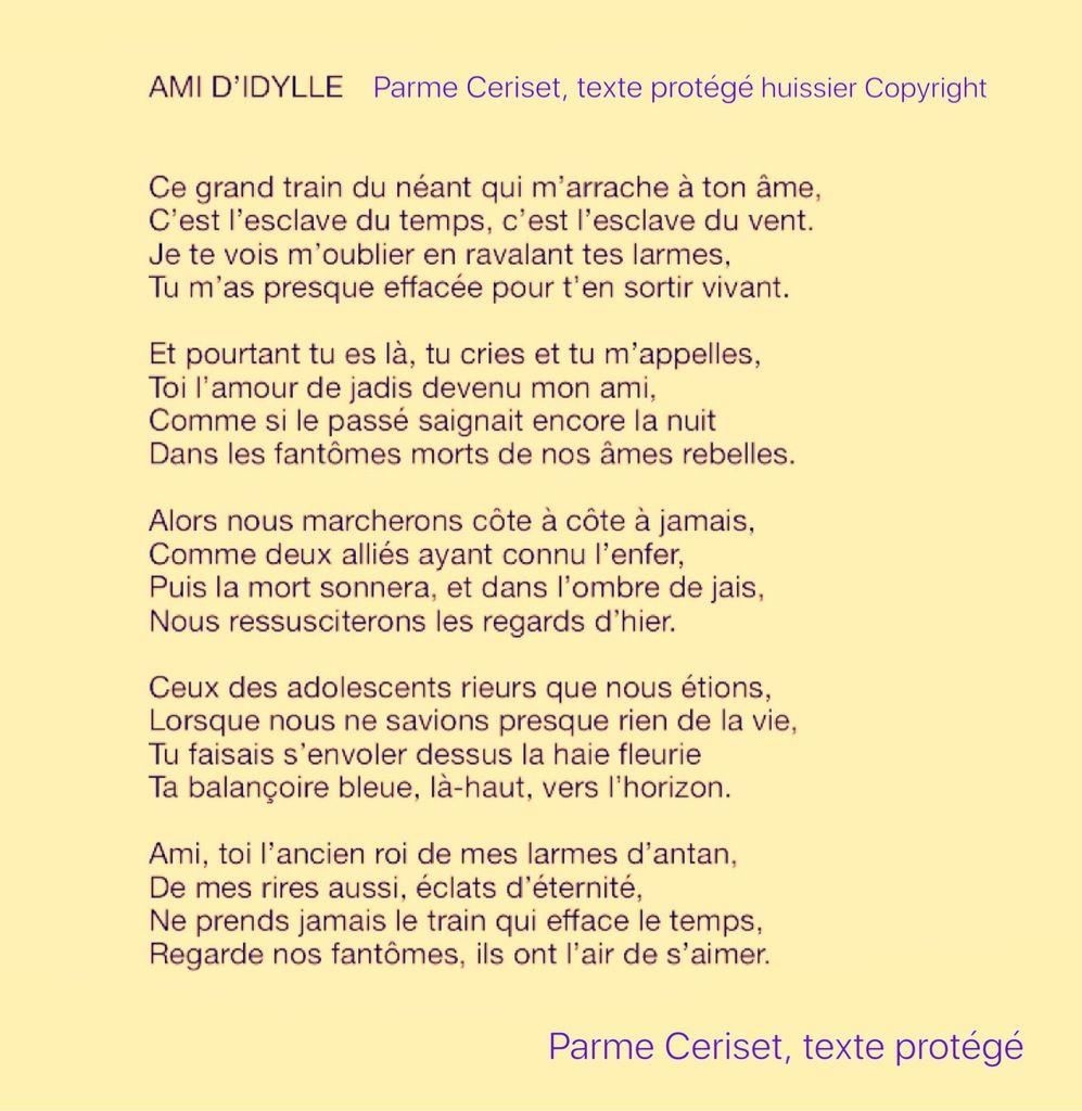 Ami Didylle Parme Ceriset Poème Protégé Copyright Parme