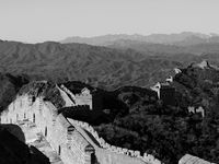 Great Wall. Black & White.