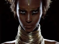 Iman, one the most sought-after models of the 1970s and '80s