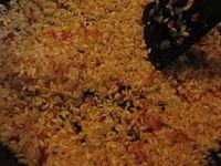 Risotto à la pancetta et poire fourrée au gorgonzola