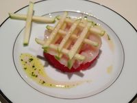 Tartare de St-Jacques-pamplemousse rose-Granny Smith