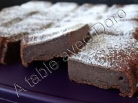 Fondant au chocolat et à la compote sans matières grasses