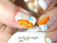 French et one stroke orange, jaune...