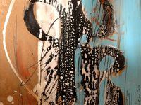 Acrylique + glycéro + crayon + pastel sur médium / F : 30x30 cm / 2012