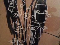 Glycéro + gouache + pastel sur médium / F : 30x30 cm / 2012