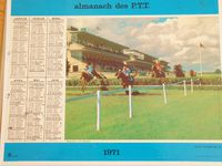 Almanach calendrier de 1968 à 1983