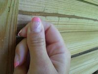French rose et son nail accent