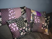 Coussins patchwork in black &amp&#x3B; white ...