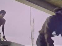 Les ouvriers filmés de manière anonyme.