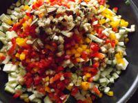 Tartare de légumes du soleil au fromage de chévre frais