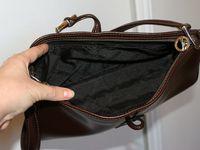 Sac baguette Longchamp marron en cuir : 79 euros (vendu !)