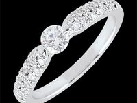 Gioielleria anello solitario Trionfale - Solitario Ramoscello oro bianco - Solitario Ramoscello oro rosa - 0.25 carati - vendita online