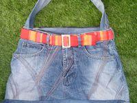 Grand sac avec fermeture éclair séparable, doublé, pochette intérieure zippée