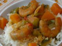 Riz au gingembre et sauce aux crevettes