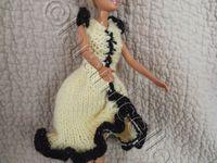 tuto gratuit barbie :robe esméralda jaune