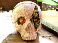 Skull Lady Green Diamond &lt&#x3B; VENDU &gt&#x3B;