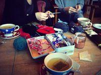 Tricot-thé du jour!