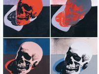 Crânes et Autoportraits de Warhol .