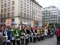 Procession (partie militaire qui précède le Saint Sacrement)
