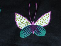 """Coton """"african butterfly"""" The Alexander Henry Fabrics collection 2011, plaid polaire ikéa polarvide."""