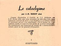 "J.-H. Rosny aîné ""Le Cataclysme"" in Fiction n°27 de février 1956"