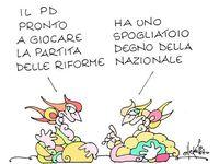 """le immagini sono dedicate a ellekappa - prima """"vignettista del giorno"""" (!) sul blog di Grillo"""