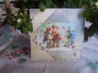 Merci beaucoup  Françoise, pour cette jolie carte, une petite boîte qui contient un superbe coeur à suspendre