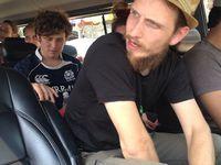 Pour la photo les personnes présentes dans le van ont bien voulu sourire :-)