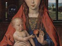 Vierge à la pomme (M.Sittow)&#x3B; Diptyque de Maarten van Nieuwenhoven