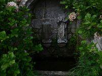 Cette fontaine était surmontée d'un édicule qui la protégeait. D'après la tradition, son eau servait à guérir les maux de tête.