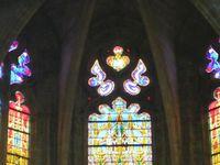 Vitrail dans le chœur de l'église Saint Etienne