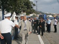 Quai...Visite du Président du Conseil d'Administration au Port d'Annaba