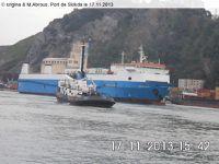Quai...Accostage du Ro/Ro Amirouche au Port de Skikda